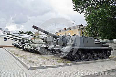 Soviet military tanks