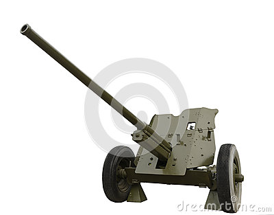 The Soviet 45-mm anti-tank cannon of World War II
