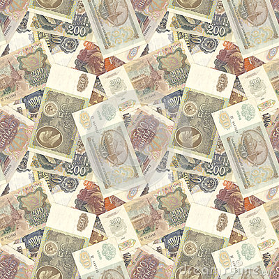 Soviet money seamless texture