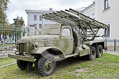 Soviet multiple rocket launcher Katyusha