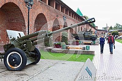 Soviet old gun Editorial Photo