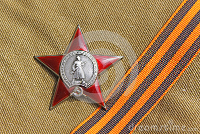 Soviet orders Red Star and the St. George ribbon