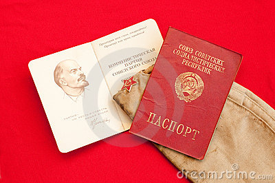 Soviet passport and party card