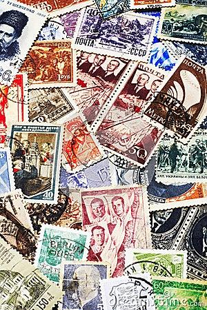 Soviet Postal Stamps