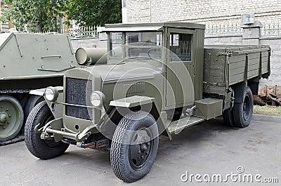 Soviet retro cargo car Uralzis