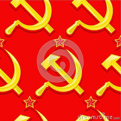 Soviet seamless pattern