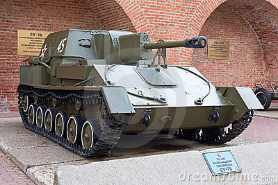 Soviet self-propelled unit SU-76 Editorial Photo