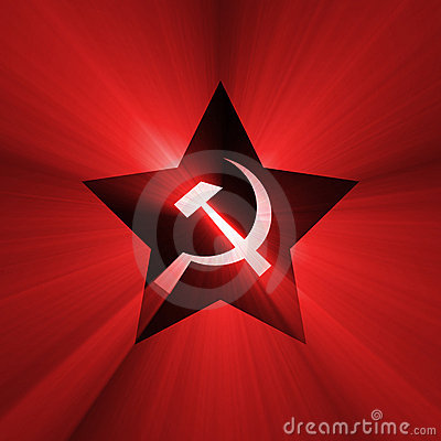 Soviet star symbol red flare