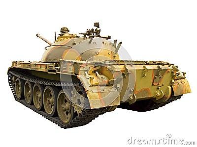 Soviet tank, back view