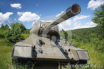 Soviet tank model t34. Second world war.