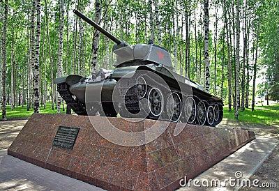Soviet tank T-34-76