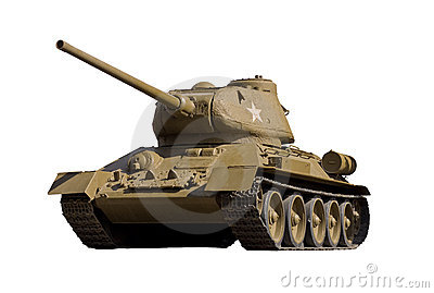 The Soviet tank T-34-85