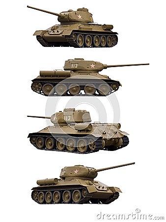 Soviet tank T-34-85