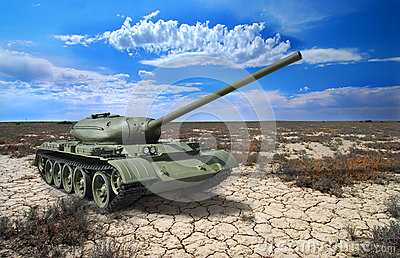 Soviet tank T-54 of 1946 year