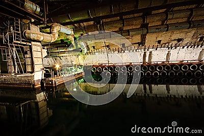 Soviet underground submarine base