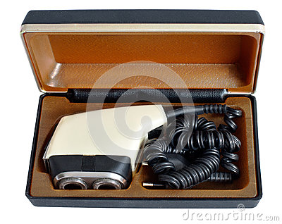 Soviet vintage electric razor in a case