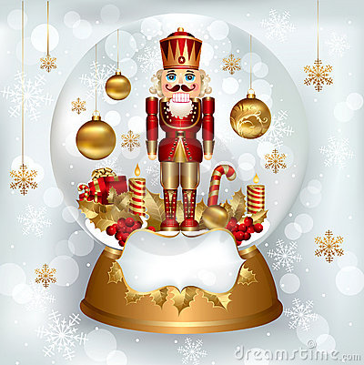 Free Sowglobe With Nutcracker Royalty Free Stock Images - 17104559