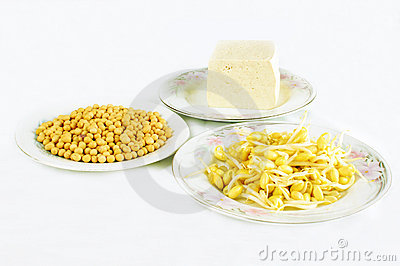 Soy bean sprouts and tofu