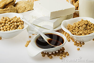 Soy sauce and other products made form soybean