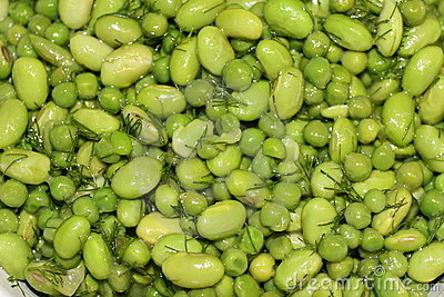 Soya and peas salad