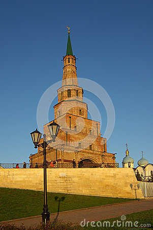 Free Soyembika Tower And Palace Church In Kazan Kremlin Royalty Free Stock Image - 61215256