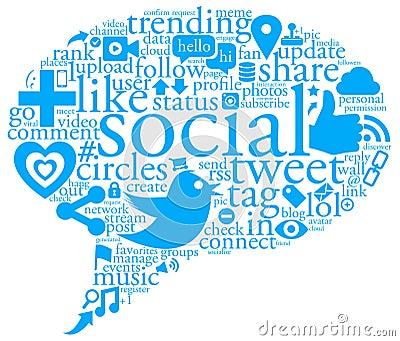 Sozialgesprächs-Luftblase