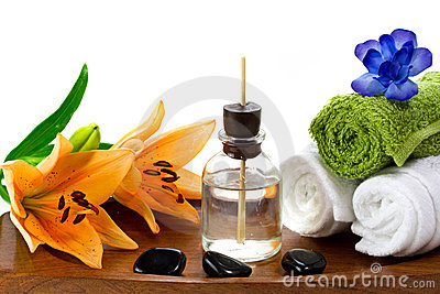 Spa accessories with aroma oils