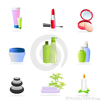 Free Spa And Make Up Icons Royalty Free Stock Photo - 11049525