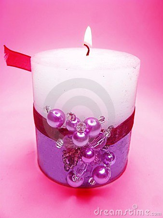 Spa aroma scented candle