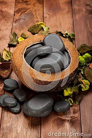 Spa - basalt stones