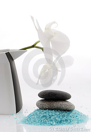 Spa - bath salt and orchid
