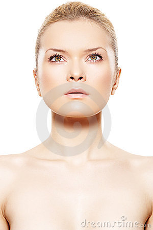 Spa beauty. Model with beautiful clean soft skin