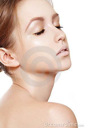 Spa beauty, wellness, skin care. Clean female face
