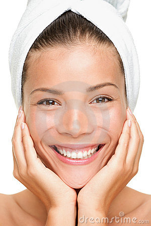Spa beauty woman smiling