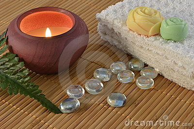 Spa candle concept