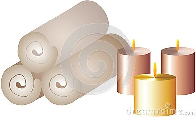 Spa Candles Royalty Free Stock Images - Image: 20638409