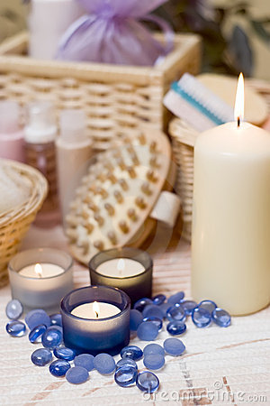 Free Spa Candles Composition Royalty Free Stock Image - 4024166