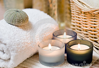 Spa candles composition