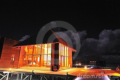 Spa Center in Night