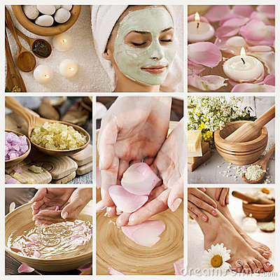 Free Spa Collage Royalty Free Stock Image - 15005066