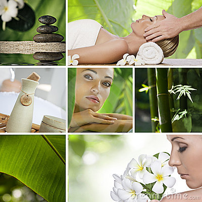 Free Spa Collage Royalty Free Stock Photography - 17293557