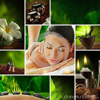 Free Spa Collage Stock Image - 26051421