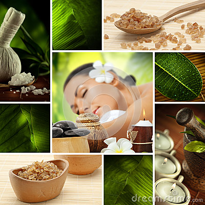 Free Spa Collage Stock Images - 26290114