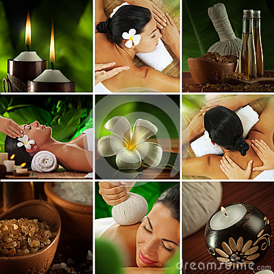 Free Spa Collage Royalty Free Stock Photo - 38733015