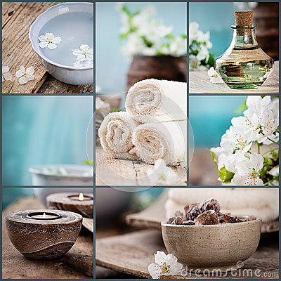 Free Spa Collage Stock Image - 41584601