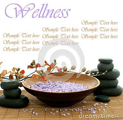 Spa composition of stones and bath salt