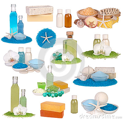 Free Spa Cosmetics Collection Royalty Free Stock Images - 28205199