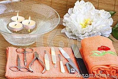 Spa decorated manicure set