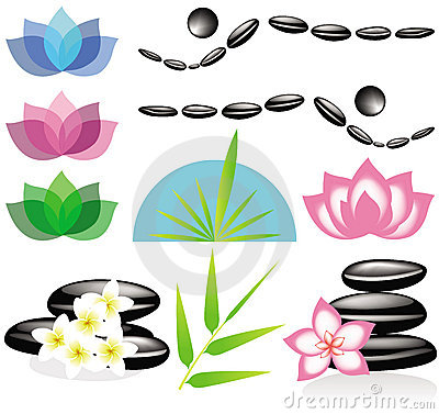 Spa elements for your design or logo