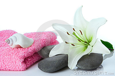 Spa flower stone towel